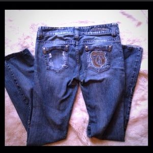 Guess distressed bootcut size 28 jeans